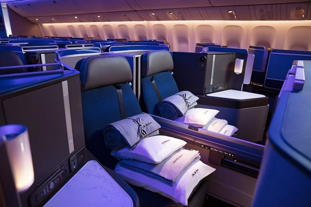 For the launch of its new Polaris Business Class product, United Airlines teamed up with Saks 5th Avenue for its new bedding. Photo Credit: United Airlines