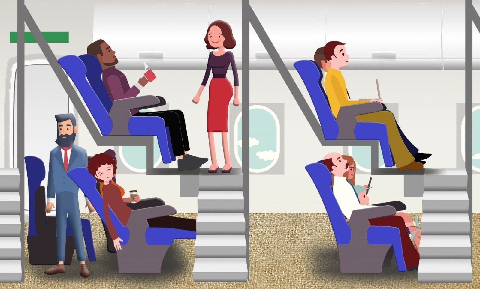 Will This Crazy Plan for Double Deck Airline Seating Ever Become a Reality?