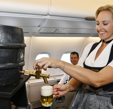 Lufthansa's Yearly Oktoberfest Celebrations See the Return of Fresh Draft Beer After a 50-Year Hiatus